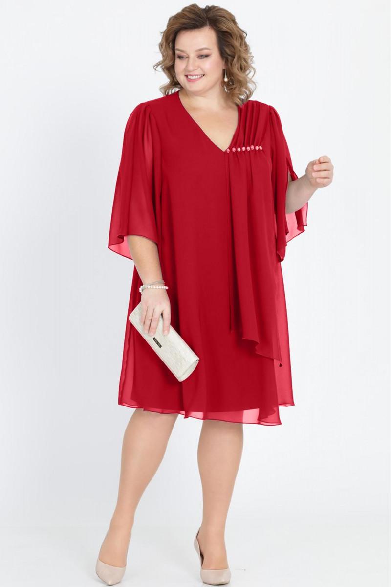 РАСПРОДАЖА  Платье Pretty 805 бордовый
