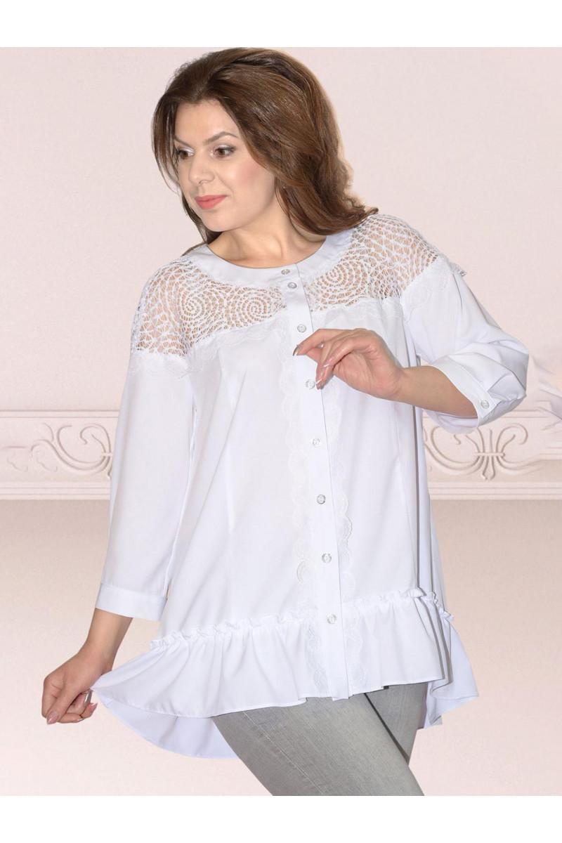 РАСПРОДАЖА Блузка Needle Ревертекс 387-1 белый