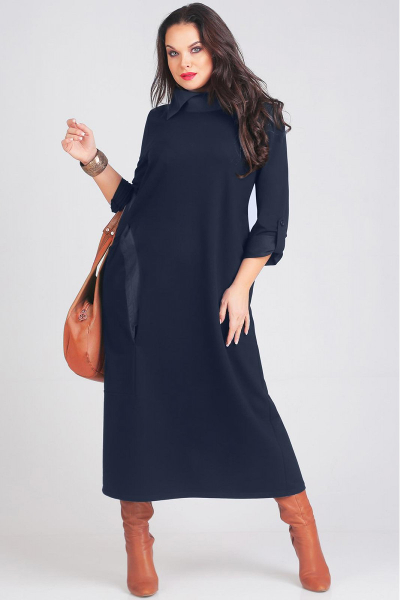Платье Andrea Style 00116 синий