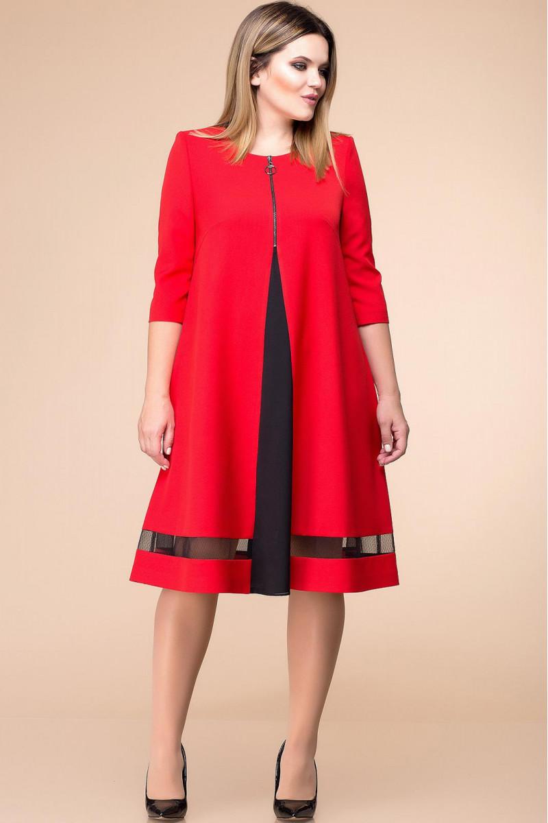 РАСПРОДАЖА Платье Romanovich 1-1726 красный